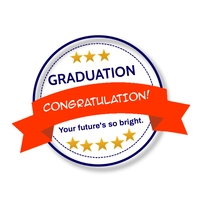 Graduation wish logo template