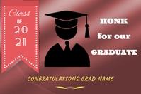 Graduation Yard Sign Cartel de 4 × 6 pulg. template