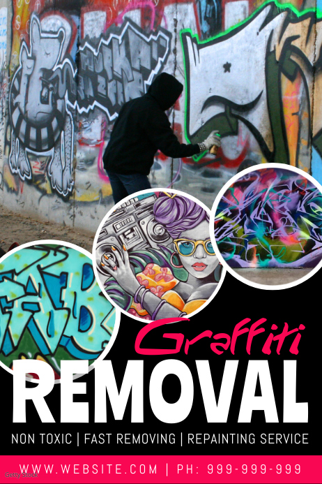 Graffiti Removal Poster template