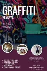 Graffiti removal service flyer template