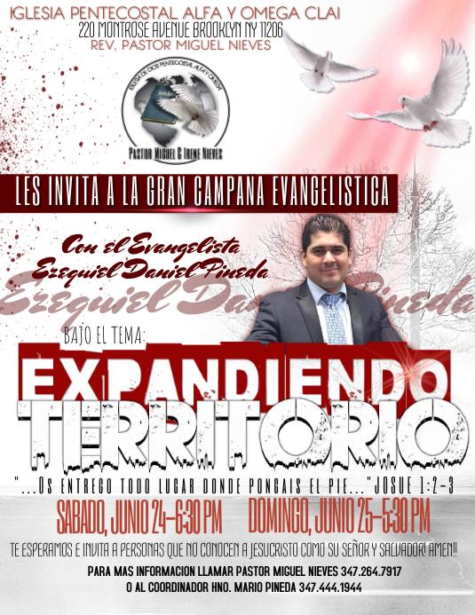Plantilla De Gran Campaña Evangelistica Postermywall