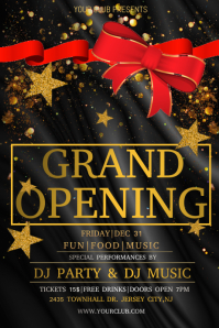 Grand opening, launching soon, opening party Плакат template