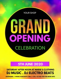 grand opening, opening soon, launching soon Flyer (format US Letter) template