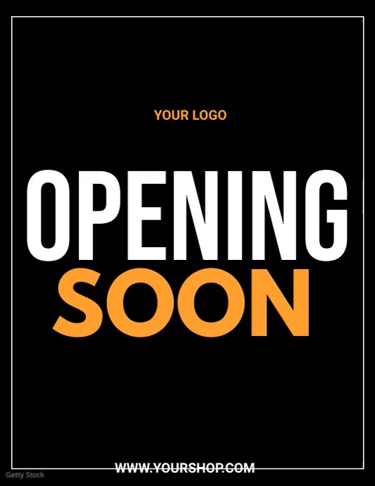 grand opening, opening soon, launching soon Løbeseddel (US Letter) template