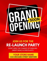 grand opening, opening soon, launching soon Flyer (US Letter) template