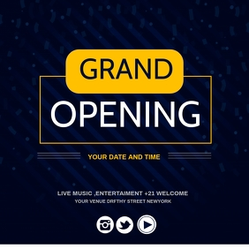 grand opening,re-launch Instagram Post template
