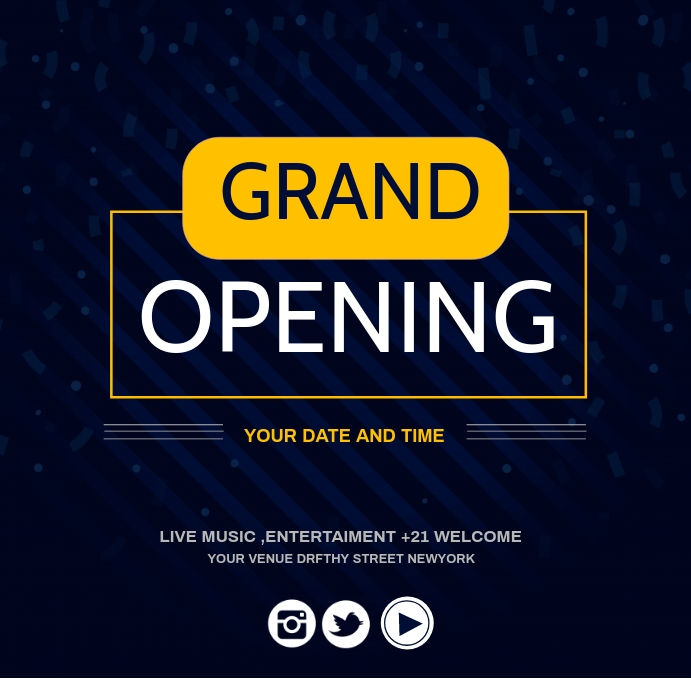 grand opening,re-launch Instagram-opslag template
