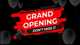 Grand opening,reopening, event,party,sale Digital Display (16:9) template