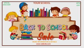 Book fair,back to school, event ,school Blog Header template