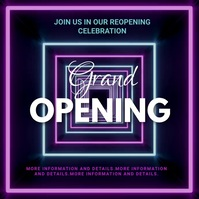 Grand opening,reopening, event,party,sale Instagram Post template