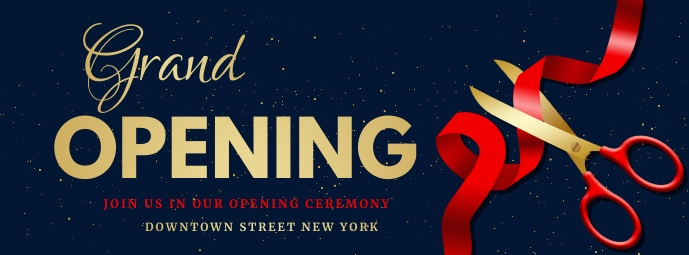 Grand opening ,coming soon,event รูปภาพหน้าปก Facebook template