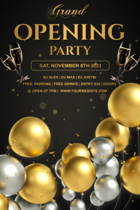 Grand opening balloons Poster template