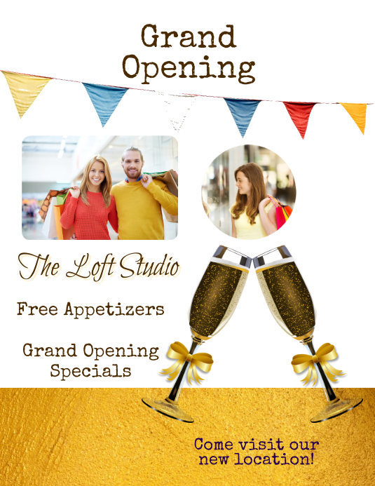 grand opening celebration party flyer