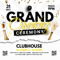 grand opening ceremony Publicação no Instagram template