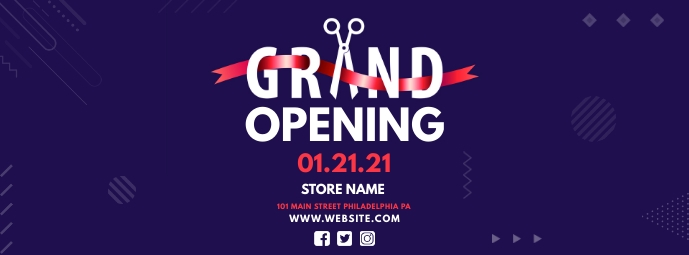 Grand Opening Facebook Omslag Foto template