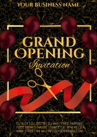 GRAND OPENING A4 template