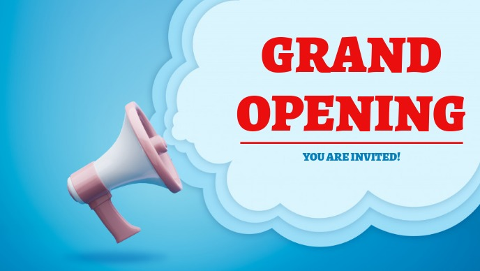 Grand opening Video copertina Facebook (16:9) template