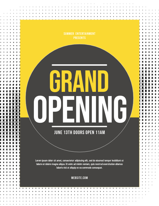Grand Opening Pamflet (Letter AS) template