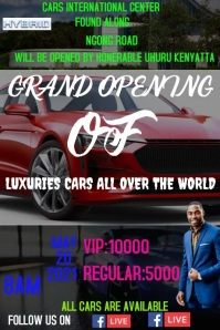 Grand opening Poster template