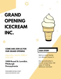 Grand Opening Dessert Shop Flyer Template