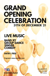 Grand Opening event Celebration Party Flyer
