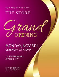 Grand Opening Event Flyer Invitation template