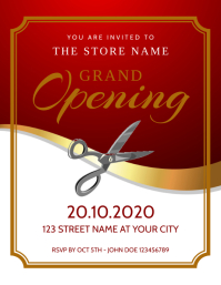 Grand Opening Event Flyer Invitation