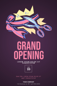 Grand opening event flyer template