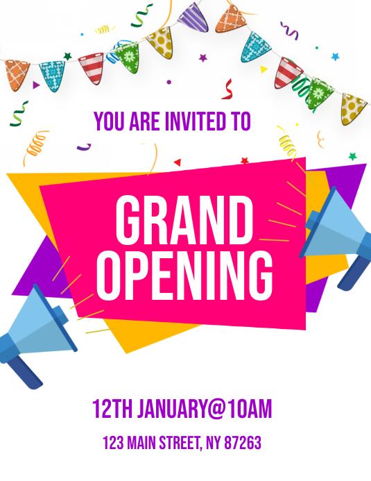 Grand Opening Flyer 传单(美国信函) template