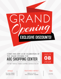 Grand Opening Flyer Template Volantino (US Letter)
