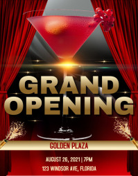 Grand Opening Flyer Template Poster/Wallboard