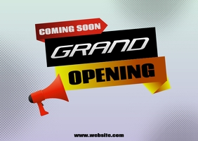 Grand Opening flyers Postcard template
