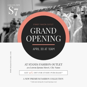 Grand Opening Instagram Post Template