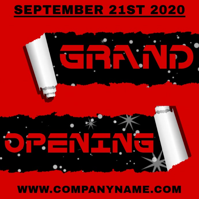 Grand Opening Instagram Template