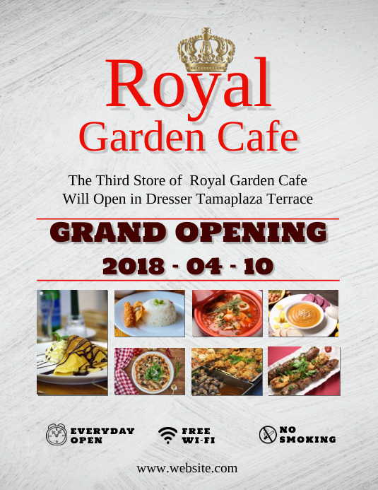 grand opening of cafe flyer template postermywall