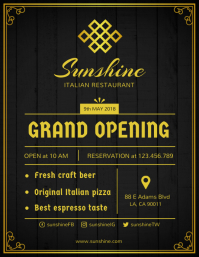 Grand Opening of Restaurant Flyer Template