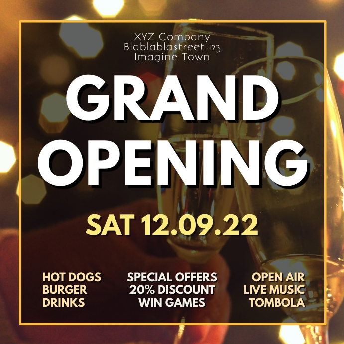 Grand Opening Party event Celebration Advert