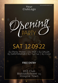 Grand Opening Party event Celebration poster