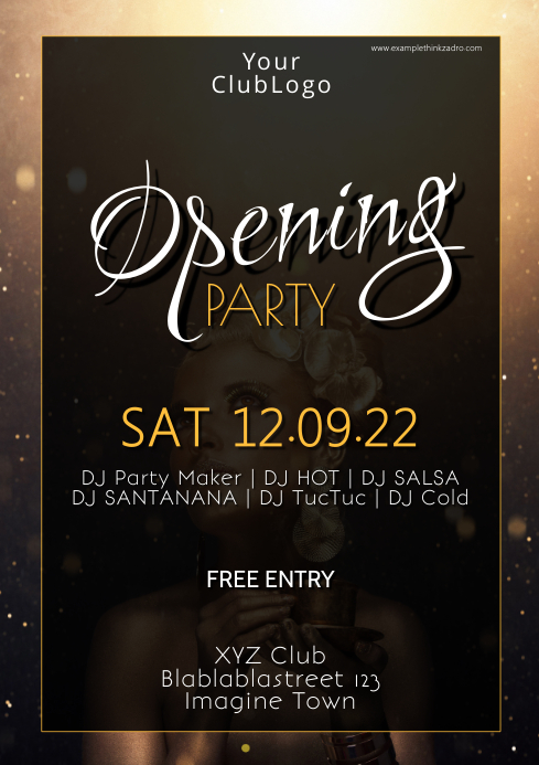 Grand Opening Party event Celebration poster A4 template