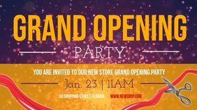 Grand Opening Party Landscape Digital Display Video template