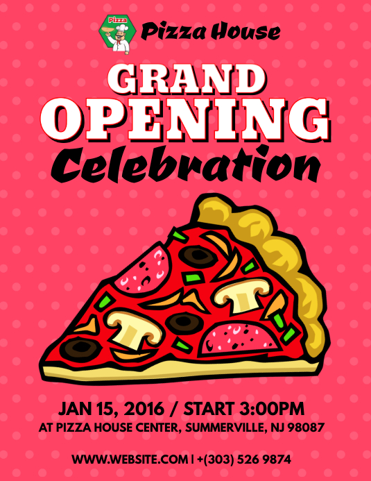 Grand Opening Pizza Flyer