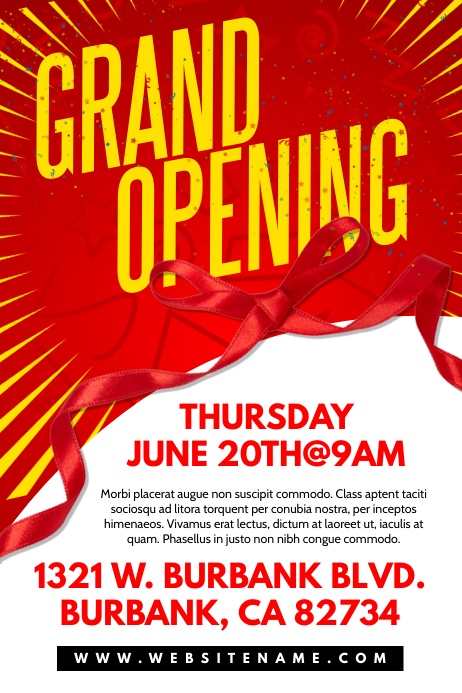 Grand Opening Poster Template Postermywall