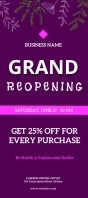 grand opening rack card flyer template