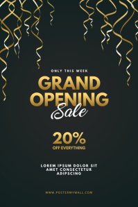 Grand Opening Sale Flyer Template Poster