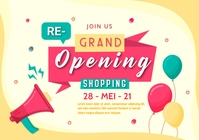 Grand Opening Sale Shopping A5 template