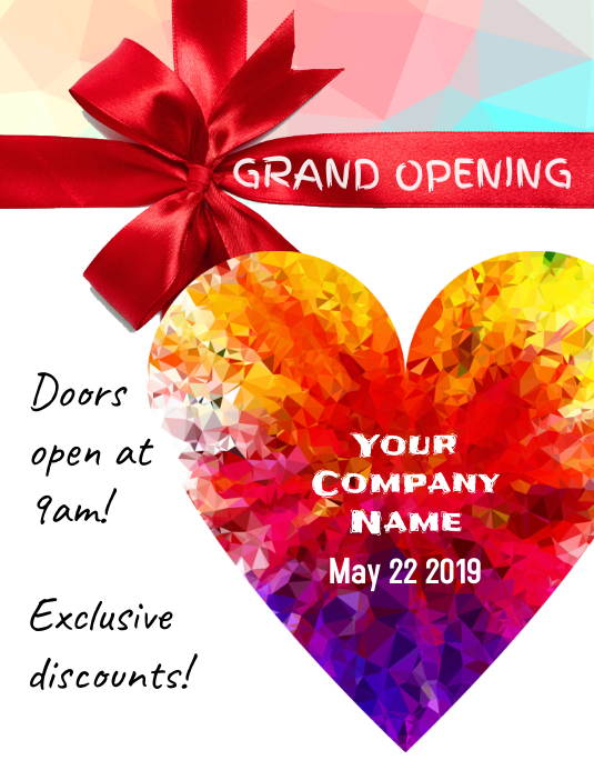 Grand Opening Sales Flyer Iflaya (Incwadi ye-US) template