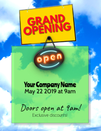 Grand Opening Sales Flyer