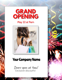 Grand Opening Sales Flyer Template