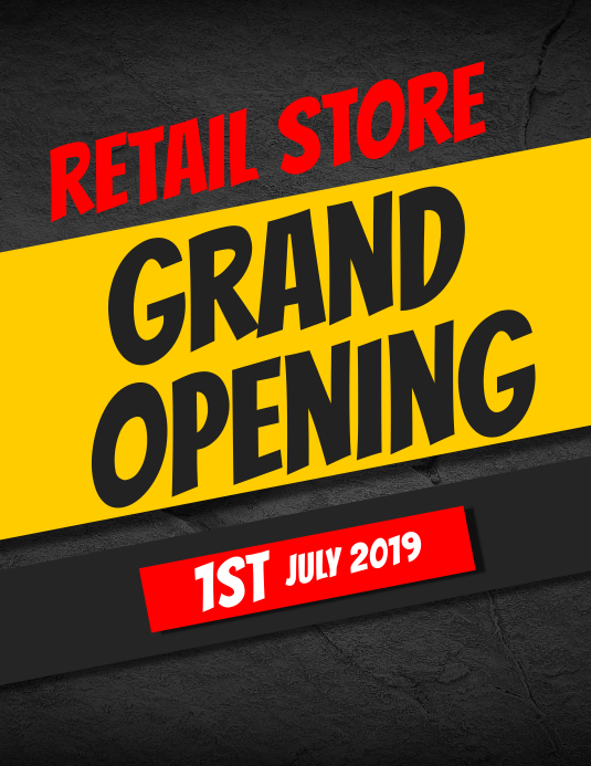 grand opening store template Pamflet (VSA Brief)
