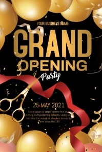 grand opening video Plakat template